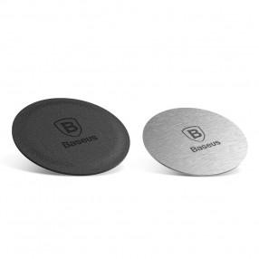 Set Adaptor magnet BASEUS Magnet Iron Suit - Silver / Black Leather