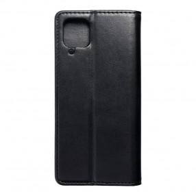 Husa Samsung Galaxy A12 Magnet Book tip carte cu magnet, piele ecologica - negru