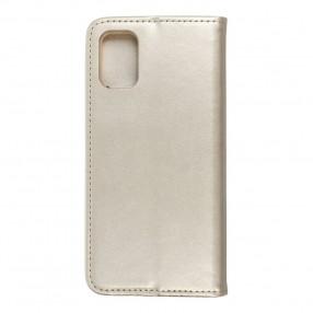 Husa Samsung Galaxy M31s Magnet Book tip carte  cu magnet, piele ecologica - gold