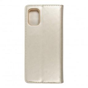 Husa Samsung Galaxy M51 Magnet Book tip carte cu magnet, piele ecologica - gold