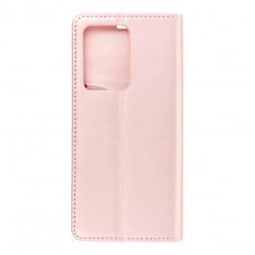 Husa Samsung Galaxy S20 Ultra Magnet Book tip carte  cu magnet, piele ecologica - rose gold