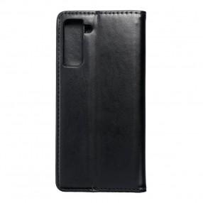 Husa Samsung Galaxy S21 Plus Magnet Book tip carte cu magnet, piele ecologica - negru