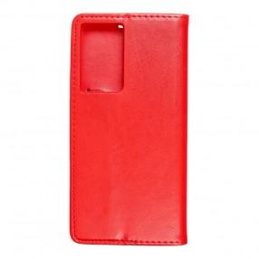 Husa Samsung Galaxy S21 Ultra Magnet Book tip carte  cu magnet, piele ecologica - rosu