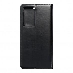 Husa Samsung Galaxy S21 Ultra Magnet Book tip carte cu magnet, piele ecologica - negru