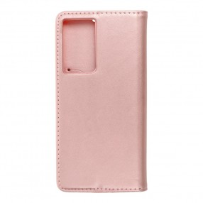 Husa Samsung Galaxy S21 Ultra Magnet Book tip carte  cu magnet, piele ecologica - rose gold