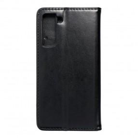 Husa Samsung Galaxy S21 Magnet Book tip carte cu magnet, piele ecologica - negru