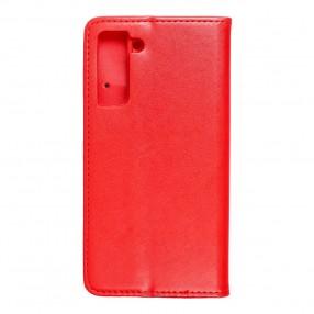 Husa Samsung Galaxy S21 Magnet Book tip carte  cu magnet, piele ecologica - rosu