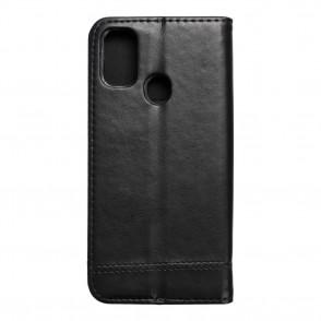 Husa Samsung Galaxy M21 Prestige Book tip carte cu magnet, piele ecologica - negru