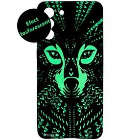 Husa Samsung S21 LUXO TPU Glow in the Dark - Tribal Wolf