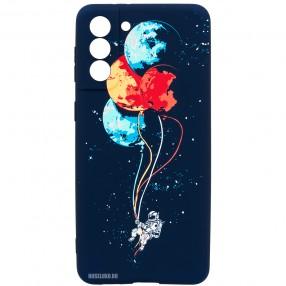 Husa Samsung S21 LUXO TPU Glow in the Dark - Balloons or Planets