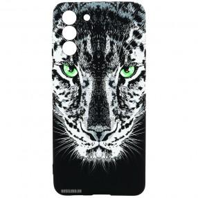 Husa Samsung S21 LUXO TPU Glow in the Dark - Black Leopard