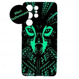 Husa Samsung Galaxy S21 UItra LUXO TPU - Tribal Wolf