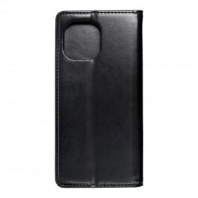 Husa tip carte Xiaomi Mi 11, model flip cover cu magnet, piele ecologica, negru