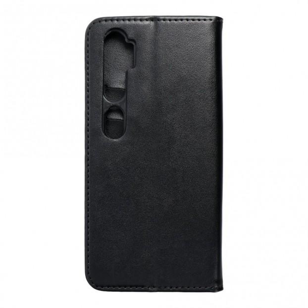 Husa tip carte Xiaomi Mi Note 10 Pro, model flip cover cu magnet, piele ecologica, negru