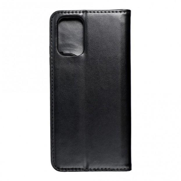 Husa tip carte Xiaomi Redmi Note 10, model flip cover cu magnet, piele ecologica, negru