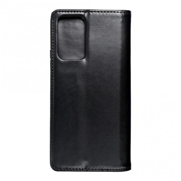 Husa tip carte Xiaomi Redmi Note 10 Pro, model flip cover cu magnet, piele ecologica, negru