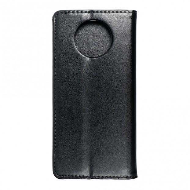 Husa tip carte Xiaomi Redmi Note 9T 5G, model flip cover cu magnet, piele ecologica, negru