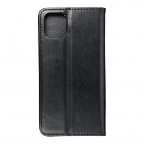 Husa iPhone 11 Pro Max Magnet Case tip carte cu magnet, piele ecologica - negru