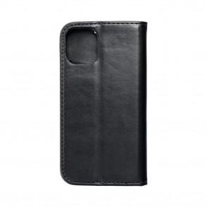 Husa iPhone 12 Mini Magnet Case tip carte cu magnet, piele ecologica - negru