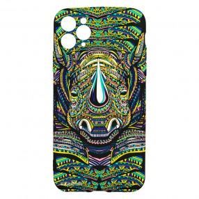 Husa iPhone 11 Pro Max LUXO TPU - Tribal Rhino