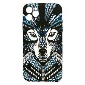 Husa iPhone 11 Pro Max LUXO TPU - Tribal Wolf
