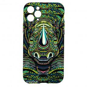 Husa iPhone 11 Pro LUXO TPU - Tribal Rhino