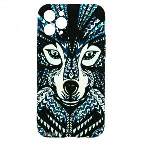 Husa iPhone 11 Pro LUXO TPU - Tribal Wolf