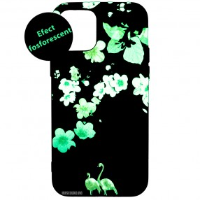 Husa iPhone 12 Pro LUXO TPU - Flamingo Flowers