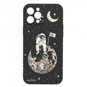 Husa iPhone 12 Pro MAX LUXO TPU - Astronaut on the Moon