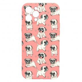 Husa iPhone 12 Pro MAX LUXO TPU - Pink.Pug.Love