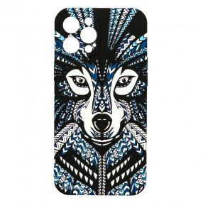 Husa iPhone 12 Pro MAX LUXO TPU  - Tribal Wolf