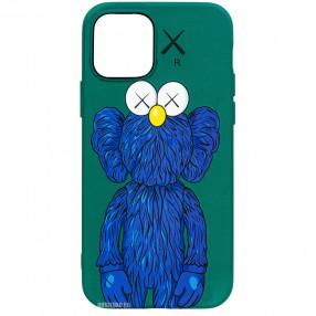 Husa iPhone 12 Pro LUXO TPU  - Blue Kaws
