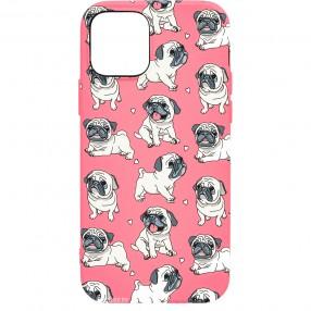 Husa iPhone 12 Pro LUXO TPU - Pink.Pug.Love