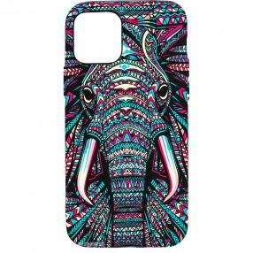 Husa iPhone 12 Pro LUXO TPU - Tribal Elephant