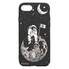 Husa iPhone 7/8/SE2 LUXO TPU - Astronaut on the Moon