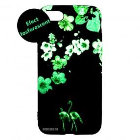 Husa iPhone 7/8/SE2 LUXO TPU - Flamingo Flowers