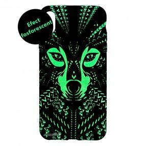 Husa IPhone X / XS LUXO TPU - Tribal Wolf