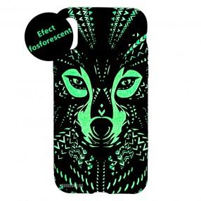 Husa IPhone XS MAX LUXO TPU - Tribal Wolf