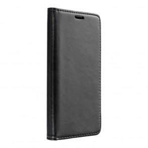 Husa iPhone 5 / 5s / SE Magnet Case tip carte cu magnet, piele ecologica - negru