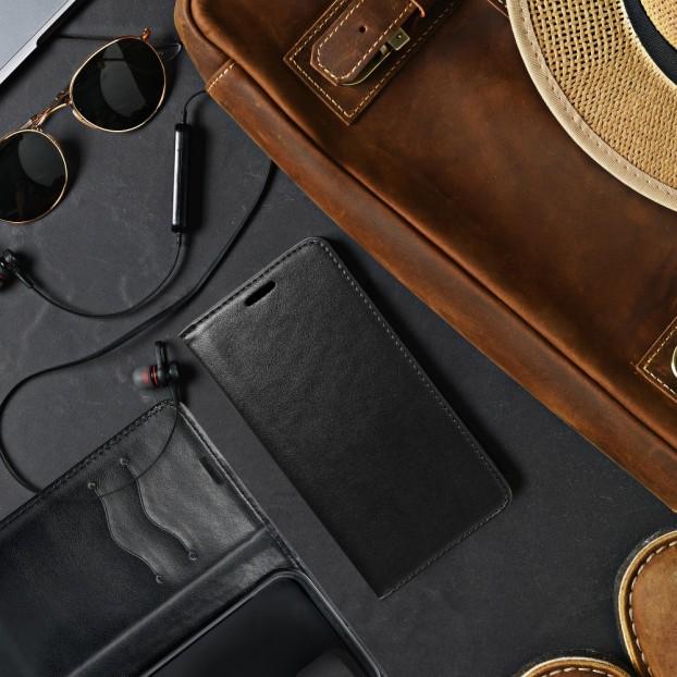 Husa Oppo Reno 4 magnet book tip carte cu magnet, piele ecologica - negru